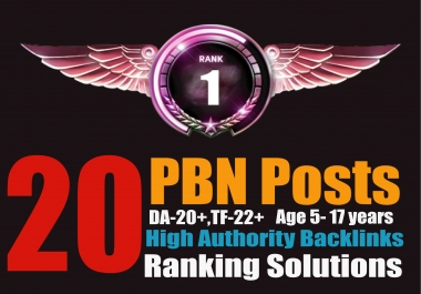 Ranking Solutions - 20 PBN Posts [DA26+TF26+]