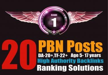 Ranking Solutions - 20 PBN Posts [DA26+TF26+]