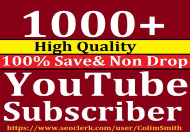 Instant 1001+Youtube Subcri,bers Super Ultra Speed