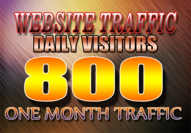 UNLIMITED USA & worldwide website traffic 800 daily visits 30 days