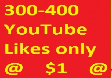 450  YouTube likes instant start 24 hours delivery