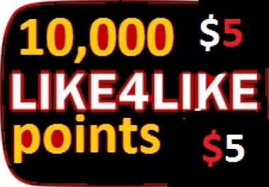 10,000+ like4like points 1 accounts give 5-6 minutes delivery just