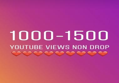 Ultra Fast 1500-2000 HR Youtube Views Within 12-24 hours Non Drop 1k 2k 5k 10k 25k 100k 2000 500k 1 million views