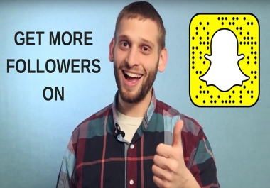 60 REAL SNAPCHAT followers