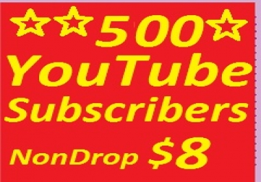Split 500 YouTube subscribers non drop guaranteed or 2000 YT Lik-es