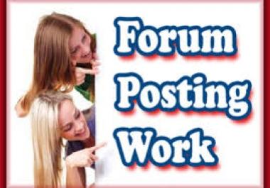 ??? Forum Posting Service ??? 50 Unique Domains ? 50 Quality Contextual Links ? DA20+ ? PA20+