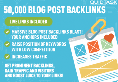 50,000 Blog Post Backlinks to boost your TRAFFIC, RANK and SIGNALS