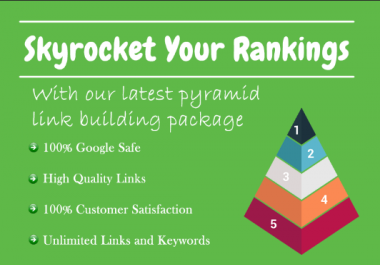 Skyrocket Your Rankings With Our Latest Pyramid Link Building Package