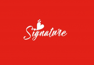 create eyecactching signature