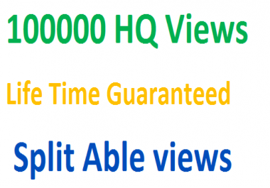 Instantly Add HQ,HR 100000 Guaranteed video promotion for
