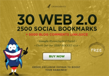 Make 30 web 2,0 properties,2500 social bookmarks backlinks Buy Here