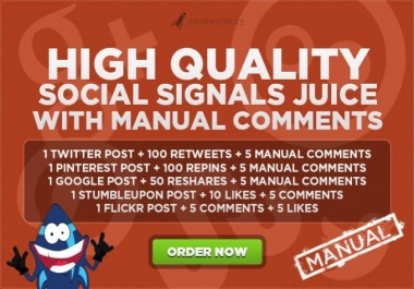 Make social signals with manual comments
