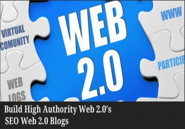 provide 20 web 2.0 contextual backlinks from the top websites  (DA 30 - 100)