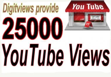 Get 25000 High retention Views