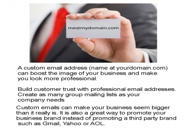 make a Custom Email for your business