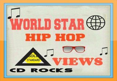 SALE PRICED!!! 3 MILLION QUALITY VIEWS WORLD STAR HIP HOP VIDEO PROMOTION