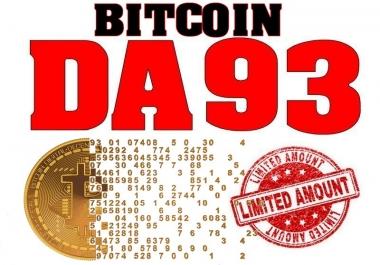 Bitcoin Backlinks on DA93 Blog (Max 10 OBLs in Navigation)