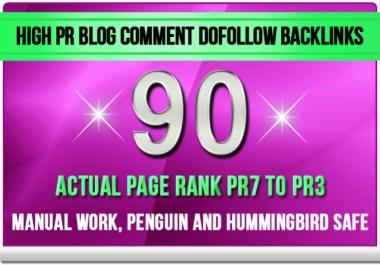 make 90 Dofollow Blog Comment Backlinks Pr7 to Pr3 Blog Commenting