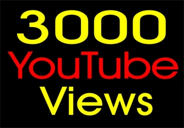 3,000 Youtube Video VIEWS