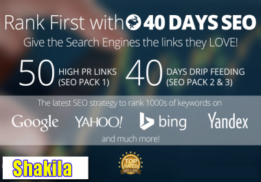 Boost your website rank on Google 50 PR-10 Niche Backlinks, 40days SEO