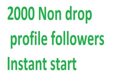 Get  2000+ Hing Quality Social profile followers via user