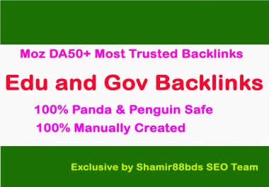 Manual 25 Edu and Gov Moz DA50+ Most Trusted Backlinks To Boost Ranking