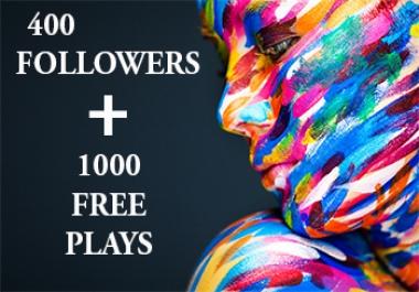 250 Spotifyfollowers + 1000 Plays
