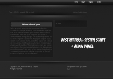 Referral System with Admin Panel