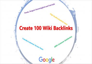 Create 100 Wiki Backlinks per week
