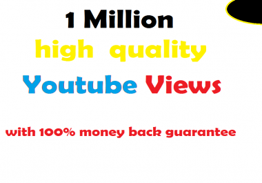 Buy 1 Million You tube Views Cheap in 5 days