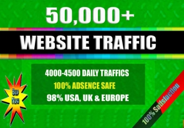 Send 50000 plus Active human traffic from Social media