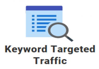 5000 keyword targeted google organic traffic