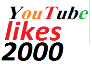 2000 real youtube like non drop very fast
