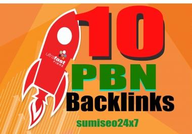 10 Manual High TF CF DA PA Dofollow Homepage PBN Backlinks