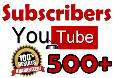 500+ YouTube Sub%scribers Organic & Safe Viral SeoPromotion