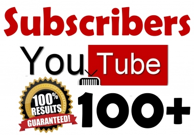 100+ YouTube Subscribers Organic & Safe Viral SeoPromotion