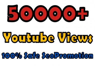 You'tube views 50000+ instant fast safe SeoPromotion