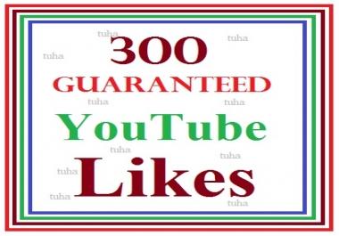 300 guaranteed youtube video like