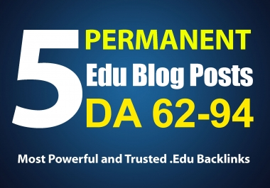 5 PR4/9 Edu Blog Posts - TF72, DA62/94 - Unbeatable SEO Backlinks for 2016