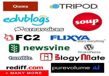Provide 800 HQ Web2 profile backlinks best for your SEO