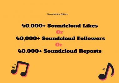 Non Drop 40,000+ Soundcloud Promotion