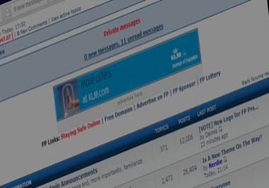8000 Permanent Backlinks on PR5 1,000,000 Post Webmaster Forum