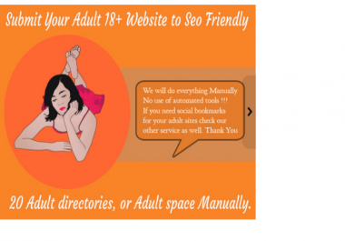 """maNUALLY submit adult website to seo friendly adult directories"""