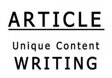 Write High-Quality SEO article of 1000 Words