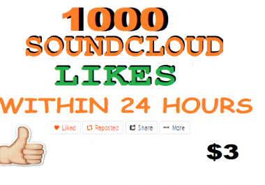 1100 soundcloud like or repost within 24 hours