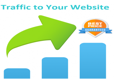 Drive 60000+ low bounce rate real human traffic