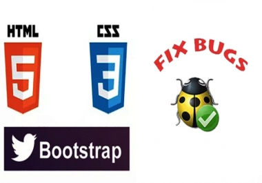 Fix your html, css, bootstrap issues