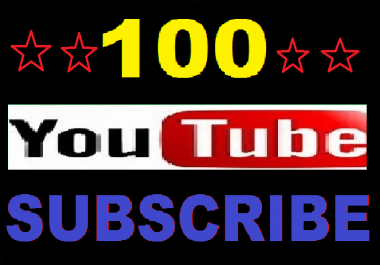 Real 100 Youtube Channel Subrcibers only
