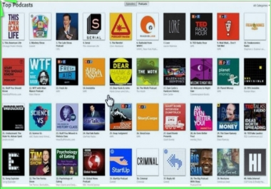I can promote your podcast musc Ranking Top on iTunes from Thousands of real Listeners