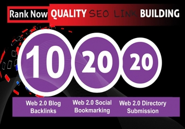 Get web 2.0 Blog Backlinks+Social Bookmarking+Directory Submission Only